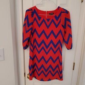 Girls Chevron pattern dress
